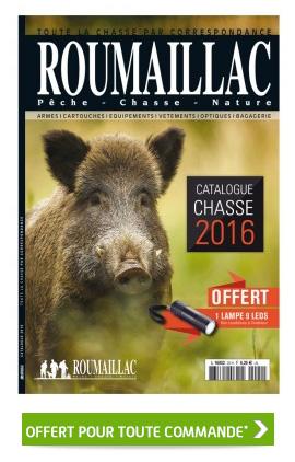 Exceptionnel ! Votre catalogue Roumaillac chasse 2016 offert pour toute commande avec le code réduction : ZZABJSFI